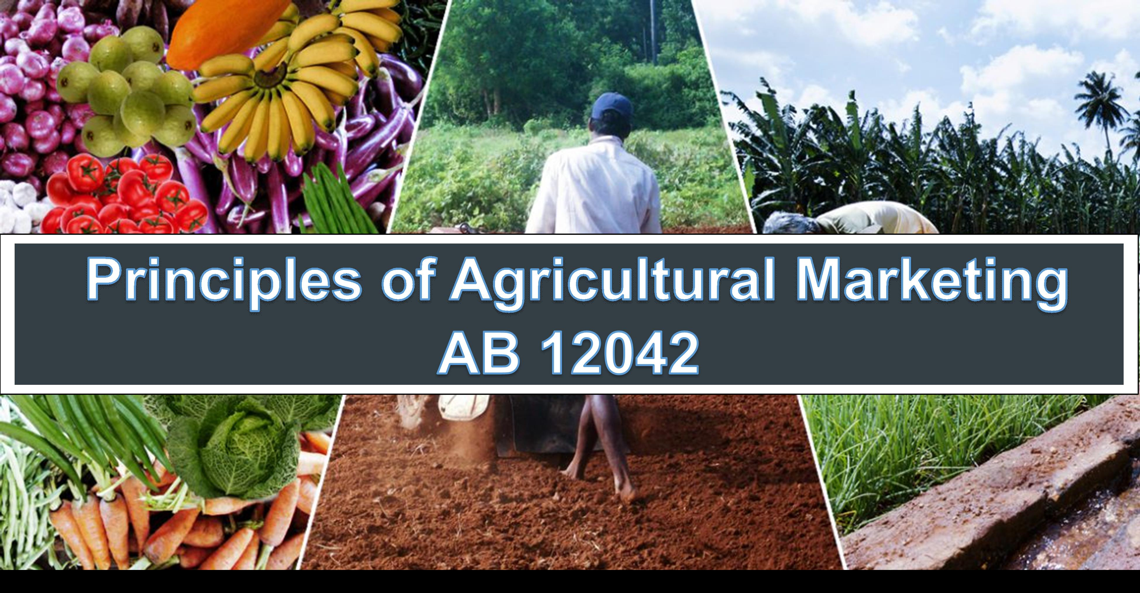 AB 12042 - Principles of Agricultural Marketing